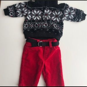 Ralph Lauren Baby Boy 2 PC Corduroy Set